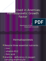 Agents Used in Anemias