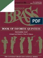 Canadian Brass Bk of Fav Quintet 01 Tpt 1