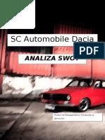 SC Automobile Dacia SA - Analiza SWOT