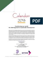 2016 WMC Calendar - English