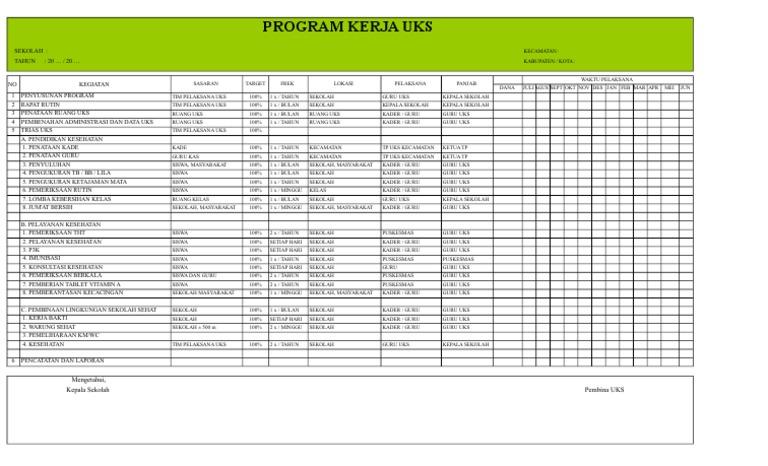 Program Kerja Uks 2