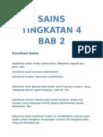 Sains Tingkatan 4 Bab 2