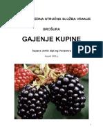 Pss Vranje - Broura Gajenje Kupine