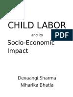 CHILD LABOR and Its Socio-Economic Impact