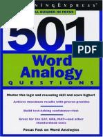 501 Word Analogy