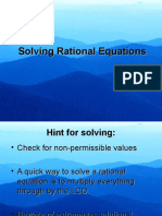 solvng rational equations