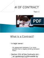 TOPIC 2 Law of Contract
