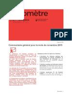 Baromètre Pays de La Loire Novembre 2015