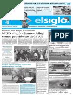 Edicion Impresa elsiglo 04-01-2016