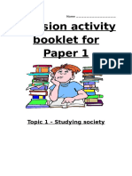 Studying Society Revision Booklet