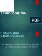 Smiologie Orl