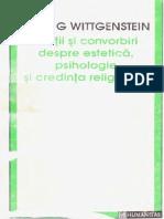 Ludwig Wittgenstein - Lectii si convorbiri despre estetica, psihologie si credinta religioasa.pdf