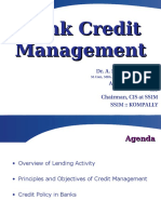 Credit Management in Banks - Basics