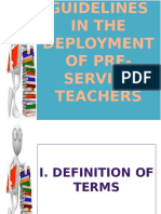 Guidelines in the Development of Pre-Service Teacher