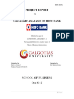 strategic analysis of hdfcbank