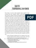 Skemp Bab Vii Faktor Interpersonal Dan Emosi