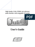ESI Juli@ English Audio Interface Manual
