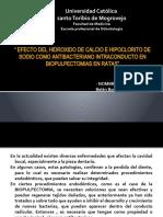 Hidroxido de Calcio e Hipoclorito de Sodio en Biopulpectomias