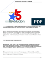 15 Anos de Avances y Logros en La Revolucion Bolivariana de Venezuela