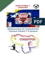 Reglamento de Competición Torneos Fútbol 7 COQUITOS 2016 Corregido
