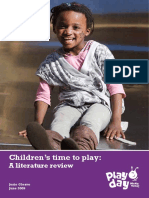 Children's Time to Play a Literature Review