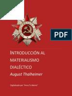 Introducción Al Materialismo Dialéctico