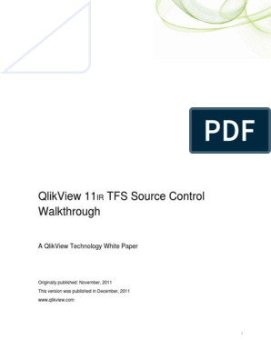 Getting Started With QlikView & Microsoft TFS (Dec 2011