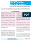 D-KEFS Validity - An Update (Pearson Clinical UK, 2008)