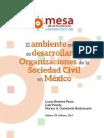 El Ambiente en El Que Se Desarrollan Las Osc en México