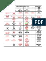 Spring Schedule 2010