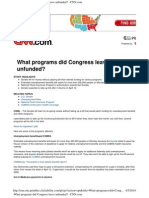 What programs did Congress leave unfunded?