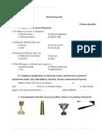 Test de Evaluare Clasa a v-A Sfintele Taine