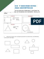 Reconoce y Describe Estas Figuras Geométricas