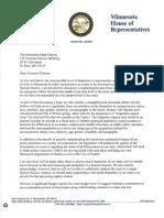 Rep. Thissen Letter to Governor Dayton (1/4/16)