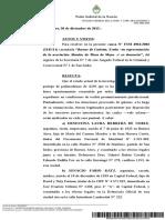 """Causa N° FSM 4961/2002 (3145/11) caratulada """"Barnes de Carlotto, Estela –en representación de la asociación Abuelas de Plaza de Mayo- s/ su denuncia"""""""