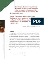 Pueblo, Conciencia, Guerra Revolucionaria - Patricio Lagos