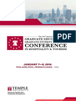 The 21st Annual Graduate Education & Graduate Student Research Conference in Hospitality & Tourism