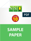 Class 10 Nso 5 Years Sample Paper