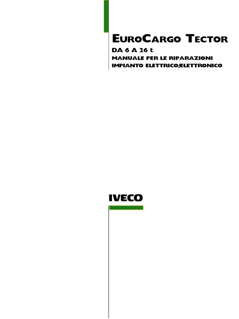 Iveco Eurocargo Electrical Service Manual 2003