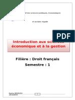 Introduction Aux Sciences Conomiques Et La Gestion (1)