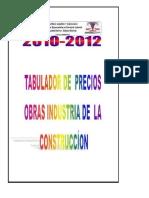 Tabulador Precios Obras Construccion Civil Venezuela