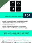 Code Computer Scientist Intro Presentation