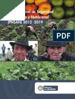 Plan Nacional de Seguridad Alimetaria y Nutricional