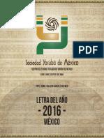 Letra del Año 2016 - Mexico