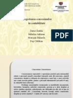 Inreg Concesiunilor in Contabilitate