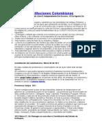 Las 16 Constituciones Colombianas- Inicio