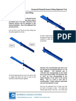 Cosasco AF Alignment Tool Instruction Sheet