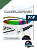 Seminario Optimizacion de Presupuestos Enero 2016