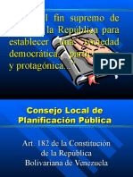Consejo local de planificacion publica