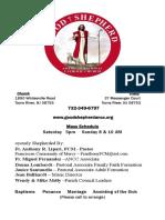 Good Shepherd ANCC Bulletin 1/03/16